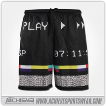 2015 new design custom reversible full sublimation basketball shorts