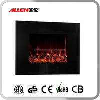ETL Approved Wall Mount Electric Fireplace with fake Flame Effect