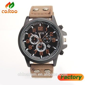 2017 New Fashion Watch Men's Watch Leather Business Clock