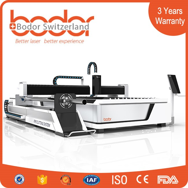 High Quality 500W/1000W/2000W 1530 fiber laser cutting machine for tube and stainless steel
