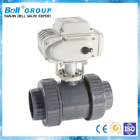 electric motor plastic hot water ball valve