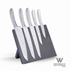 5pc steel head knife set with pom handle cheap price