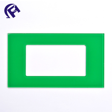 All size lucid clear green crystal tempered glass light smart home wireless glass switch panel cover