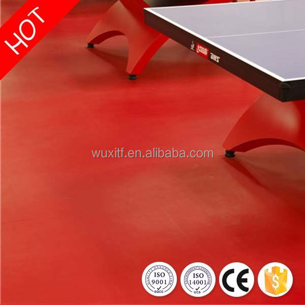 Long lifetime high quality professional pvc table tennis sports flooring for sale