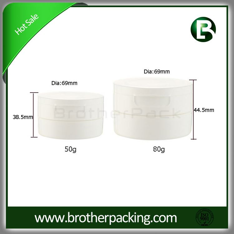 Factory Main Products! Excellent Quality pp plastic jar 50 ml for cosmetics cream with good offer