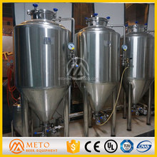 SS304,red copper conical tank,dimple cooling jacket fermenter