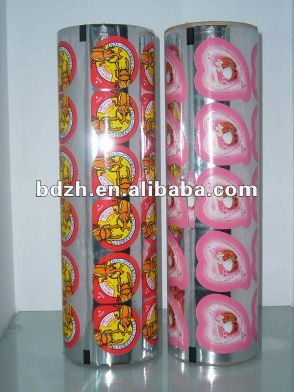 PS,PP,PE plastic cup sealing film for jelly,yogurt and milk