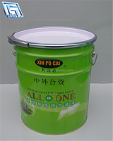 light green colored tin bucket