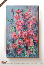 Handmade Colorful Flower Abstract Painting Design