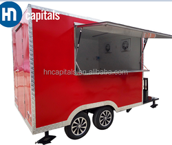 Mobile Food Cart Trailer Cars / Mobile Restaurant FoodCart / Fast Snack Trailer