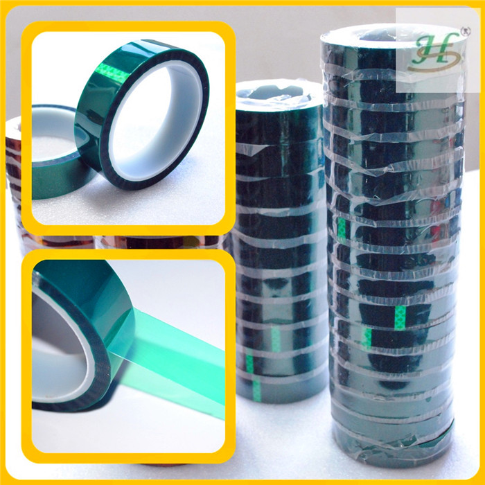 ISO9001 Shanghai Green PET Tape With Silicone Adhesive For Leather Connection