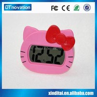 Lovely table free desktop digital silicone flip alarm clock