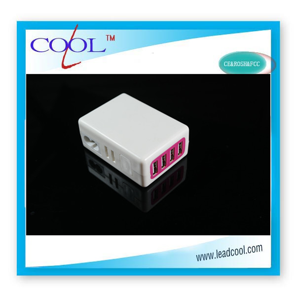 New product arrival! 4 Plug USB Power Adapter Wall Charger For iPhone 3G 4G 4S 5 iPad 2 3rd 4th iPod