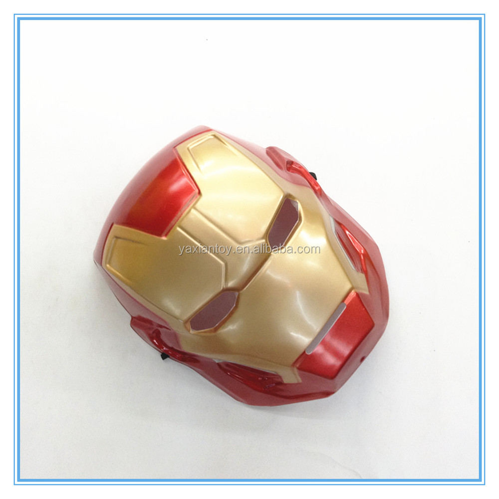 Wholesale Iron Man Mask PVC Plastic Full Kids Face Mask