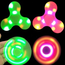 LED Light With Bluetooth Speaker Hand Fidget Spinner Gyro Desk Toys Anti-anxiety