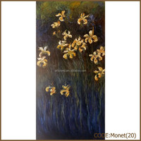 Monet abstract oil painting reproduction on canvas of yellow irises