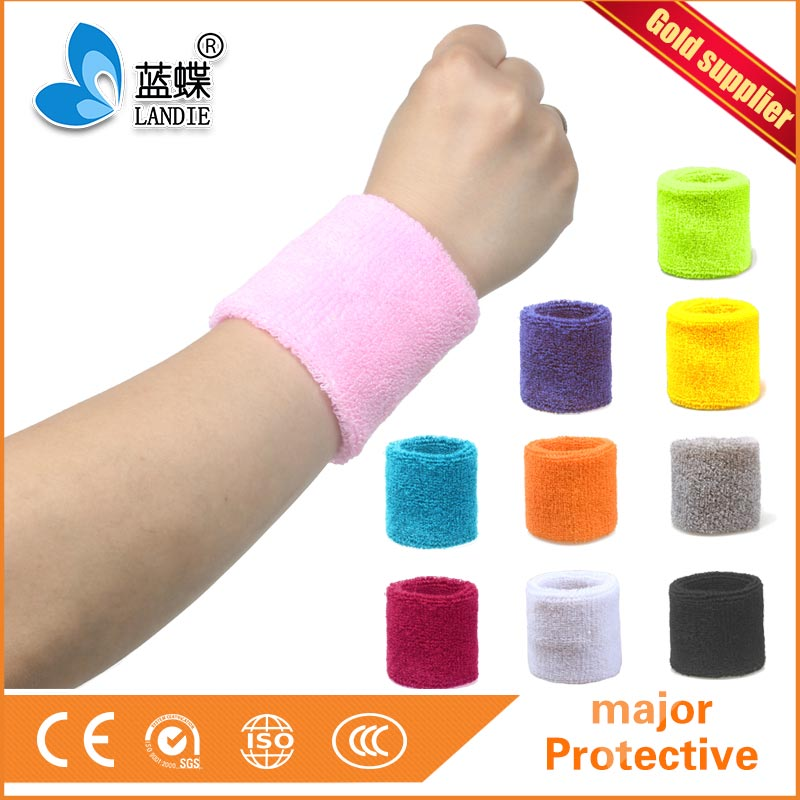 Fashionable Gym Workout Yoga Soft jacquard cotton wristband Sports sports cotton wristband