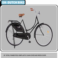 bicycle 28 inch holland bike dutch bike oma bike