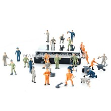 1:87 HO scale little plastic model railway worker people for scale model architectural layout