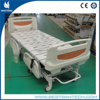 China BT-AE010 Hospital five function electric patient bed, electric home care nursing bed and mattress