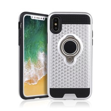 For Iphone X Phone Case,Heavy Duty Armor Hybrid Case Mobile Back Cover With Ring Holder For Iphone X