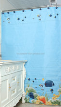 european style disposable curtains of fish design