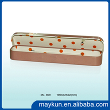 Gold supplier mini and lovely rectangular pencil tin box