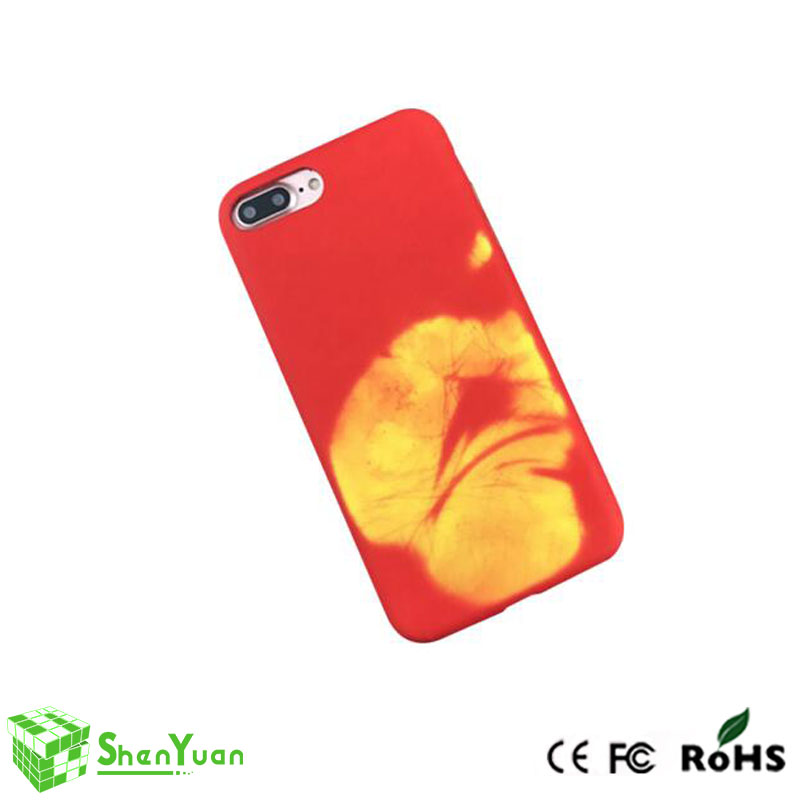 2017 hot selling temperature phone case, one phone case color can changed under different temperature