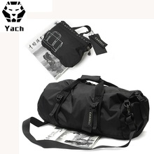 Lightweight outdoor waterproof foldable nylon sports yoga gym overnight travel duffle duffel bag with shoes compartment