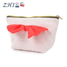 2015 Newest Cute Canvas Cosmetic Bag With bowknot