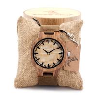 Wholesale quartz movement wood watch leather band,OEM wood watch with your logo