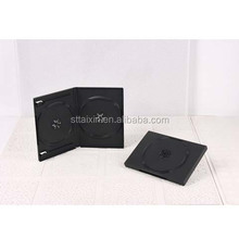 14mm black single/ double dvd case logo
