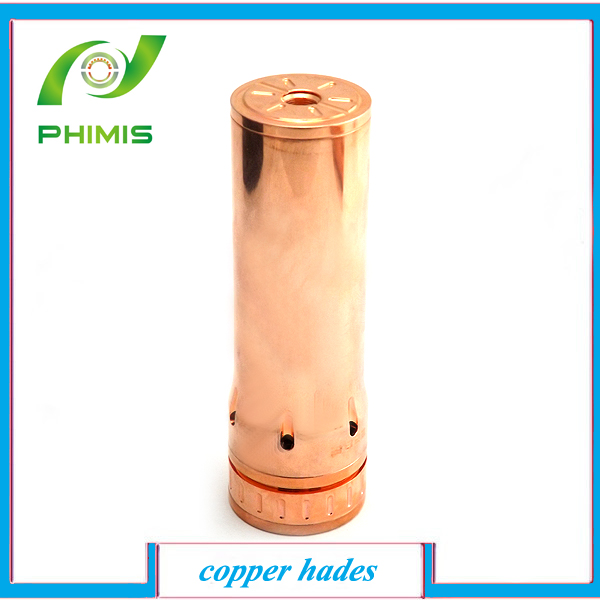 2014 most popular and hot selling e cig products mechanical mod 26650 mod bigger hades copper hades