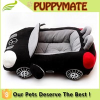 Logo Adding Factory supply Deluxe Cute and Cozy Black Car Dog Bed, dog fashion car bed