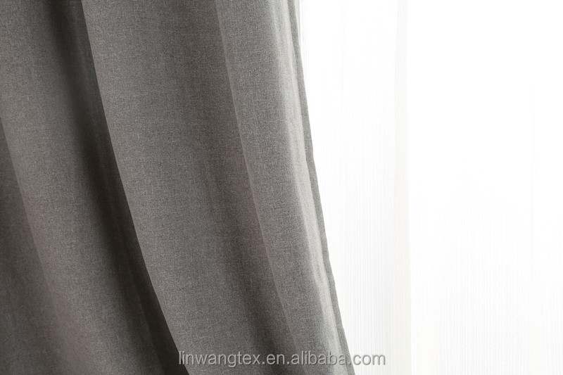 2015 popular linen-like fabric for curtain use for Home/Hotel