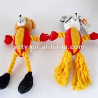 YangZhou toys factory supply plush pet rope toy