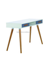 Modern wooden furniture MDF working desk office works table, bright color Italian design working desk with drawers