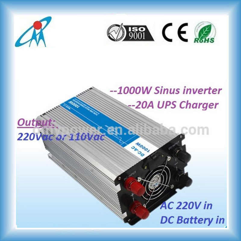 12V/24V 1000Watt Pure sine wave solar battery inverter ups inverter battery charger