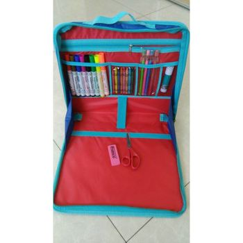 Kids Portfolio painting set with crayon,pencil, solid glue, scissor, watercolor pen, craft pad and etc.