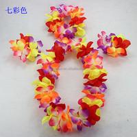 Colorful wreaths hawaii flower garland Wreath hawaii flower necklace bracelet sets