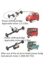 2015 india market hot sale electric trike rickshaw motor kit rear axle