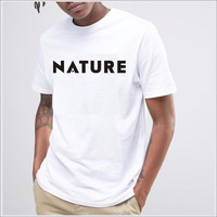 Nature Man High Quality Simple O neck Short Sleeve Printing Tee 100 Cotton Men Tshirt