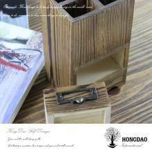 HONGDAO custom made personalized wooden pen container