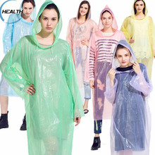 One Time Use Plastic Raincoat/Lightweight Disposable Raincoat/100% Waterproof Raincoat