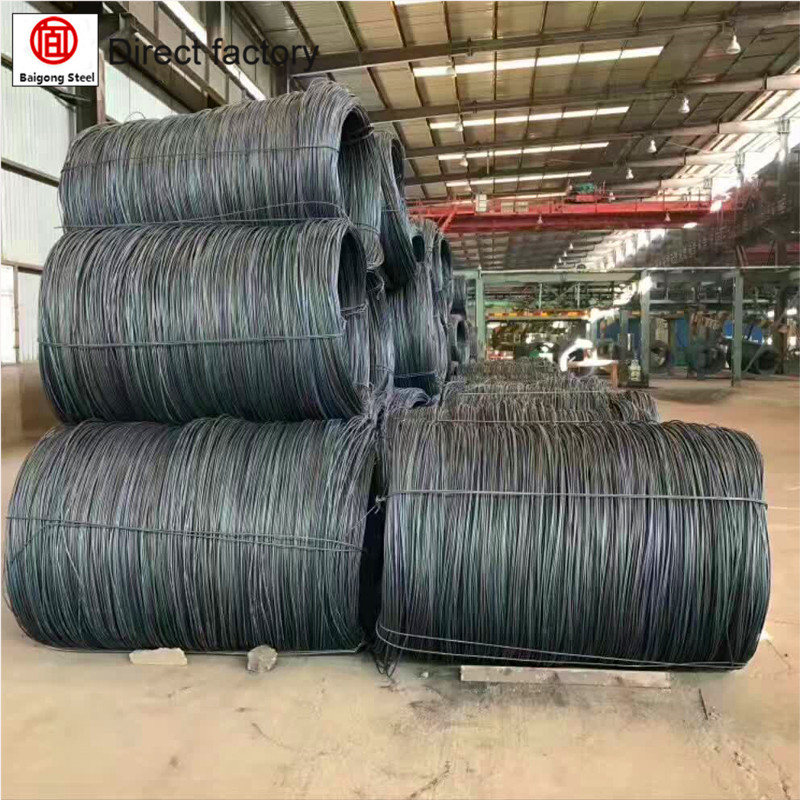 6.5, 8.0 ,10.0mm SAE 1008,Q195,Q345 Hot Rolled,in coils , Nail Making Purpose Wire Rod