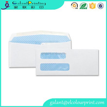 Double Window Envelopes Regular Gummed White Security Envelopes