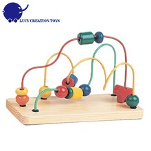 Kids Preschool Educational Game Toys Wooden beads Wire Maze Toy