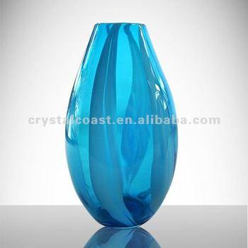 Wholesale Cheap Flower Shape Royal Blue Glass Vase;tall ...