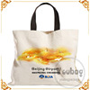 Custom Design Printed large spacious canvas bags tote wholesale with gold stamping LOGO