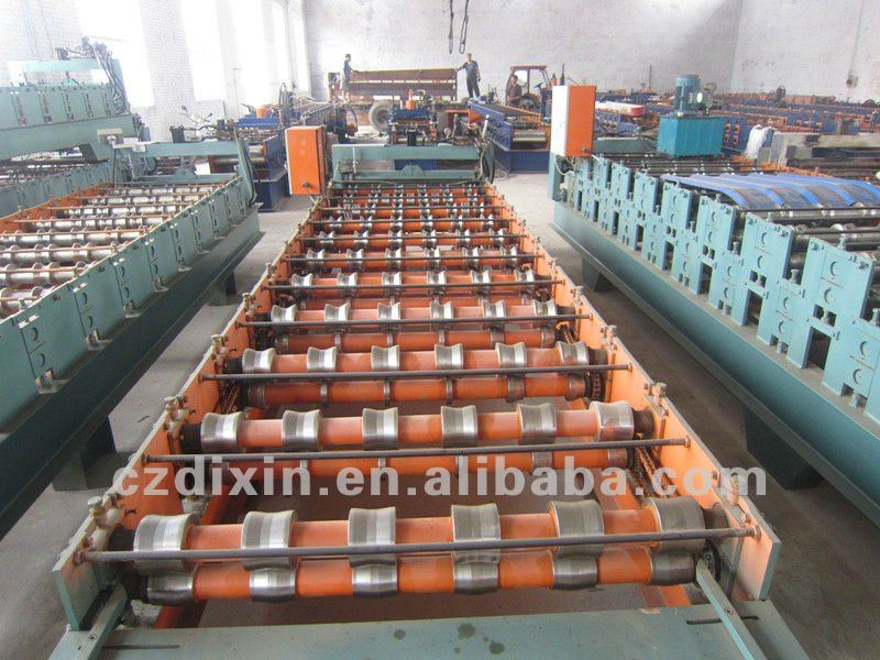 Supply Galvanized Steel Profile Roof Wall Panel Metal Cold Roll Forming Machine roll former aluminium sheet rolling mill machine